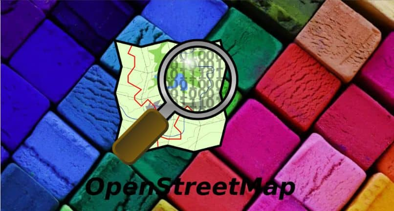 mapa de lupa com cores quadriculadas