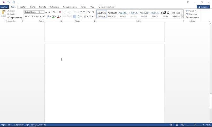 palavra página em branco