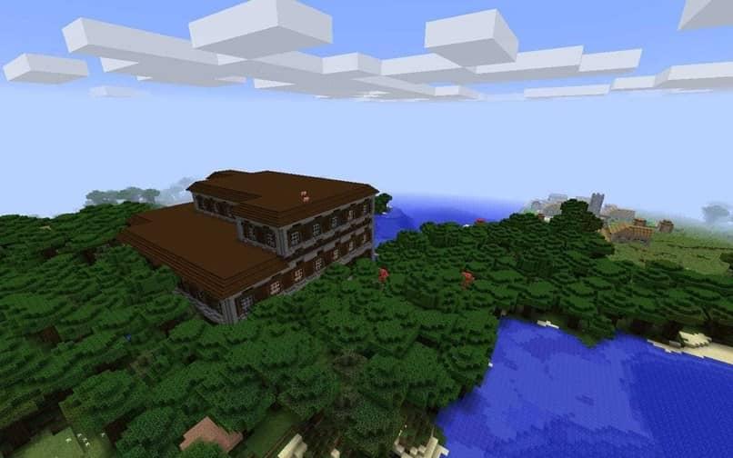 paisagem casa minecraft