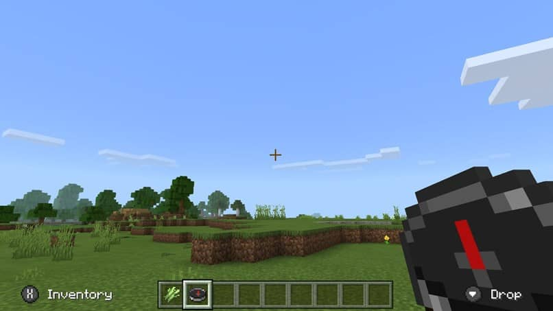 ver bússola céu minecraft