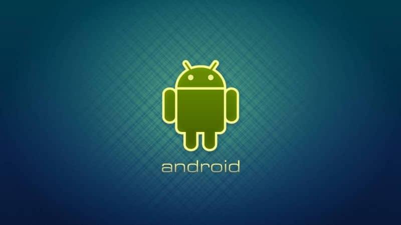 Fundo gradiente escuro do logotipo do Android