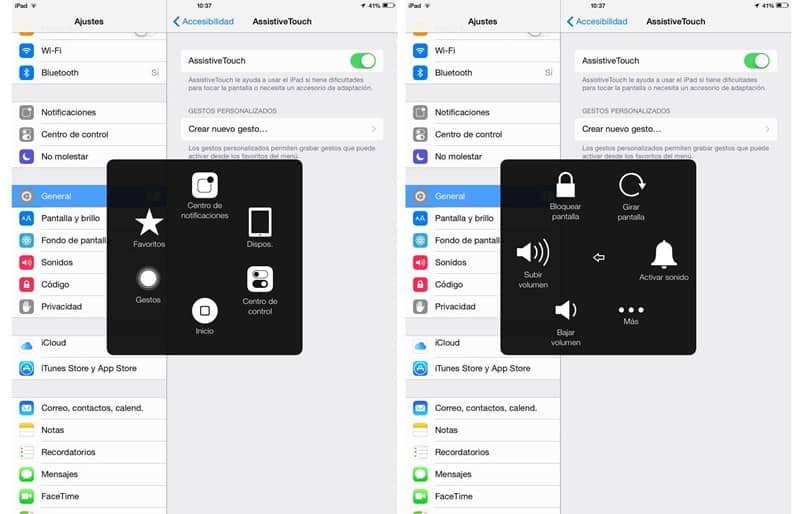 opcion home iphone