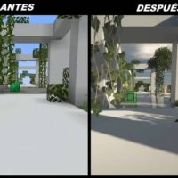 Diferença de interface 4k hd no minecraft