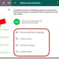 enlace grupo whatsapp rectangulo flecha roja