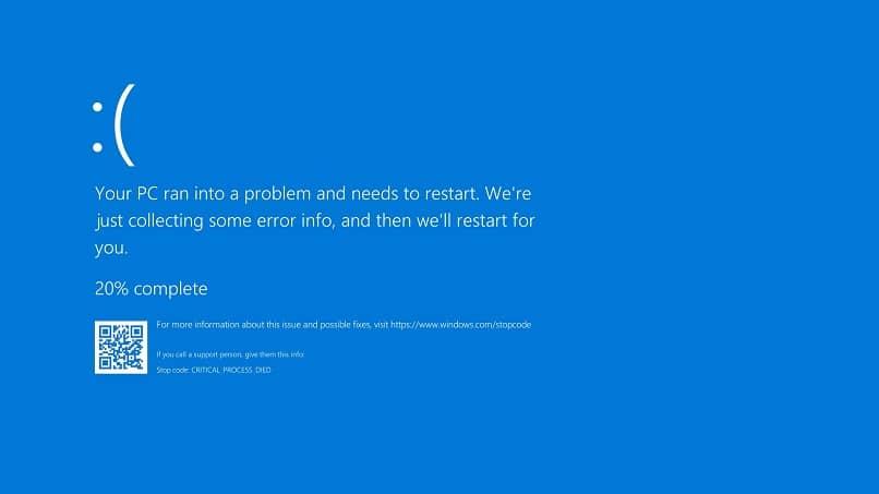 janela de atualização de erro de tela azul