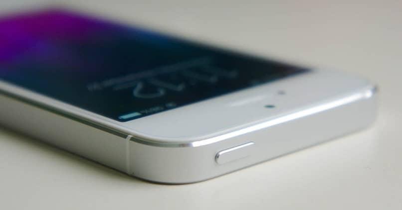 botão iphone branco