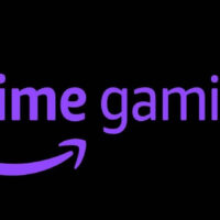 prime gaming letras moradas fondo negro
