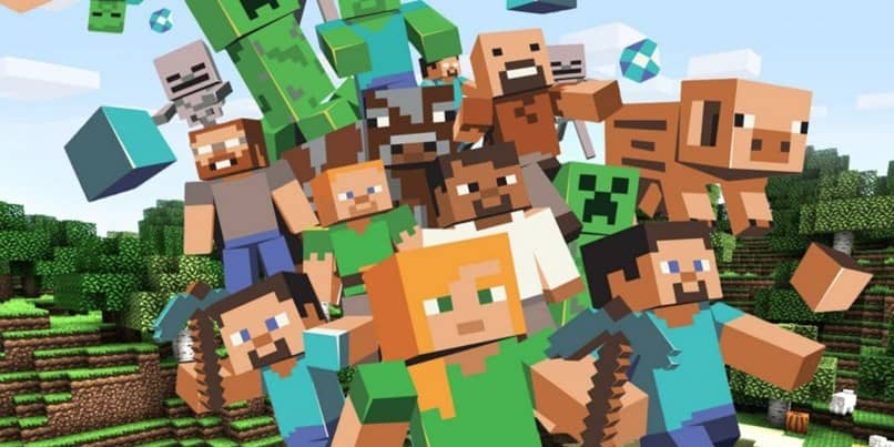 personajes color minecraft